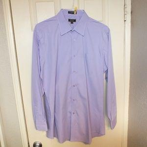 Angelo Rossi LS Dress Shirt Size 17 1/2 Lavender